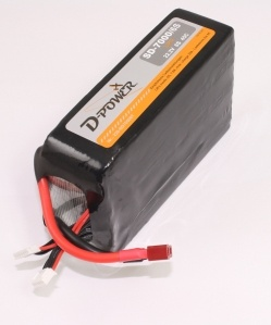 D-Power SD-7000 6S Lipo (22,2V) 45C - mit T-Stecker