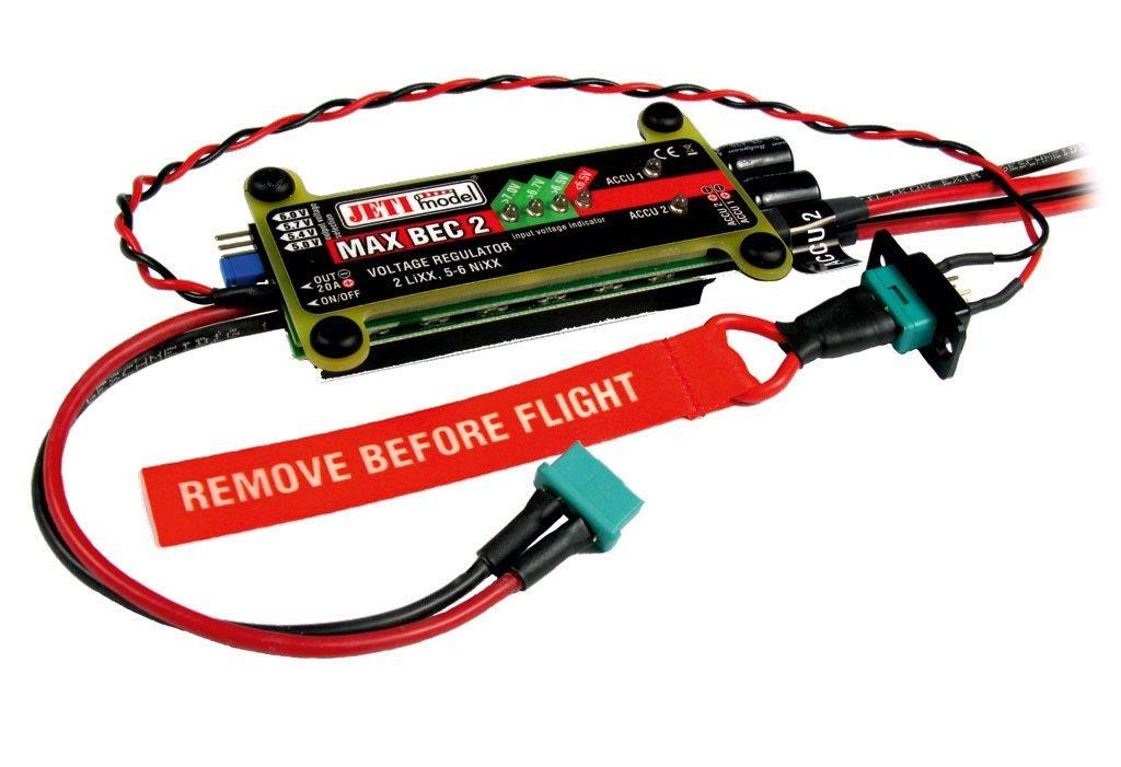 JETI MaxBec2D Plus EX 5-6V/20A mit Magnetschalter -