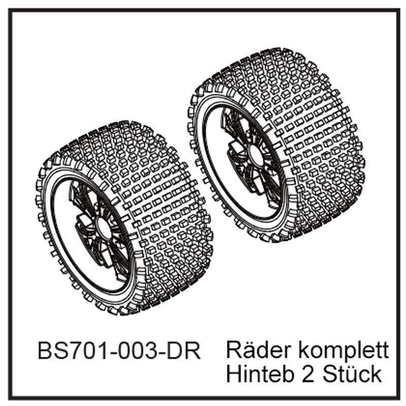 D-Power Räder komplett Hi (2 Stück) - BEAST BX BEAST BX