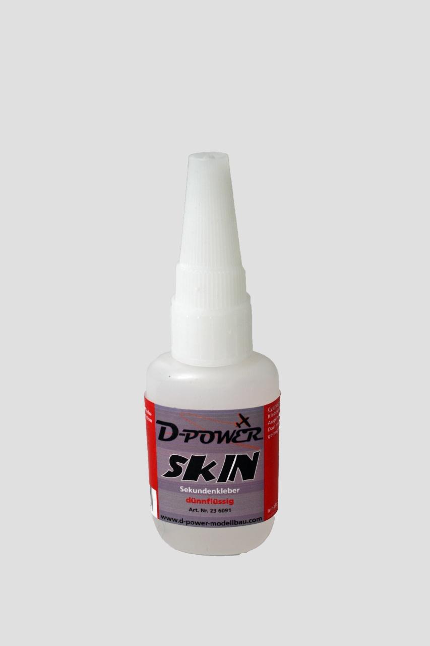 D-Power Sekundenkleber Skin m.Nadel 20gr. dünn