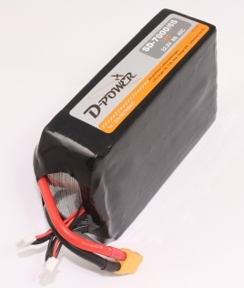 D-Power SD-7000 6S Lipo (22,2V) 45C - mit XT-60 Stecker