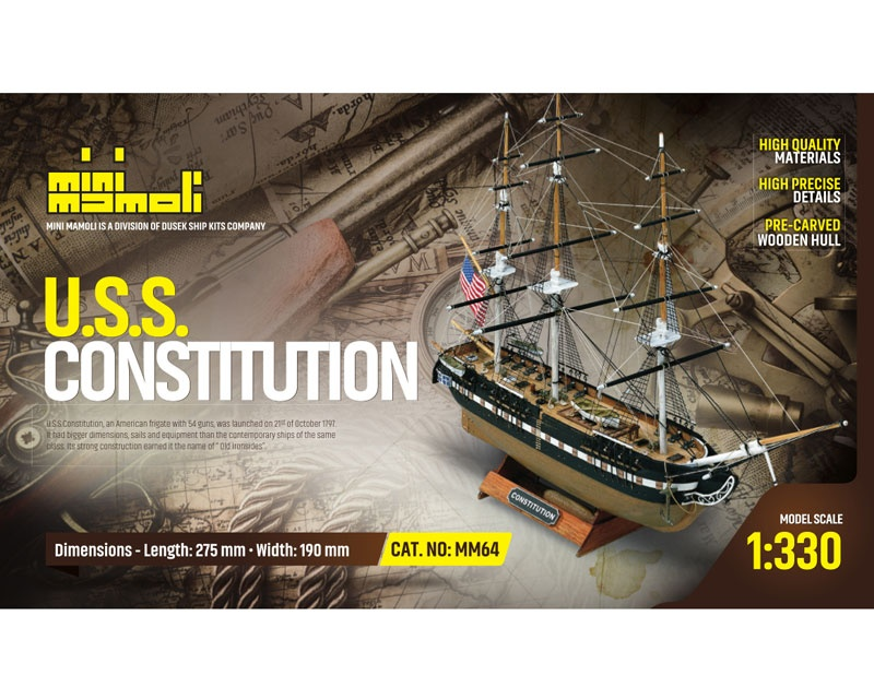 Krick USS Constitution Bausatz 1:33