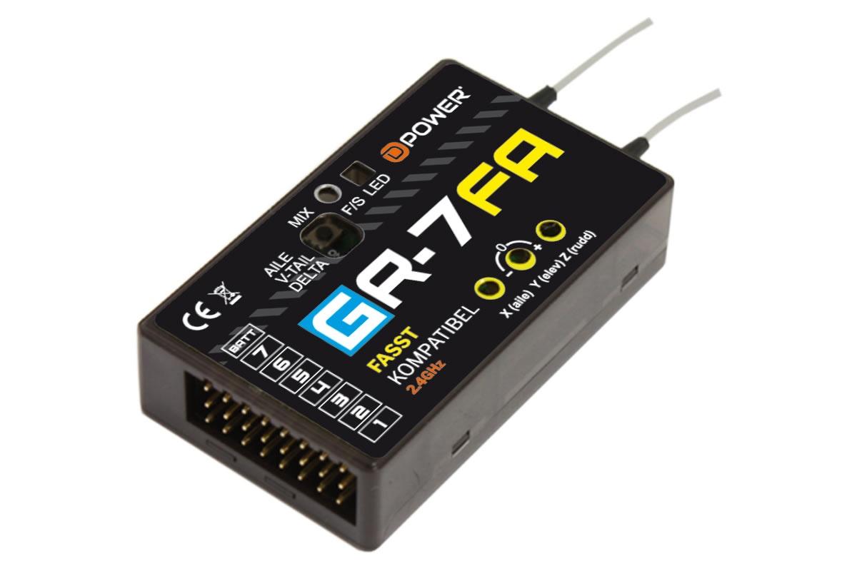 D-Power GR-7FA 2.4GHz Empfänger mit 3X Gyro FASST kompatibel