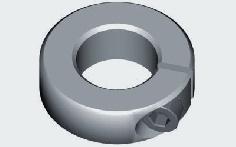 Klemmring Aluminium 16 mm M 2,5 für 6 mm Wellen