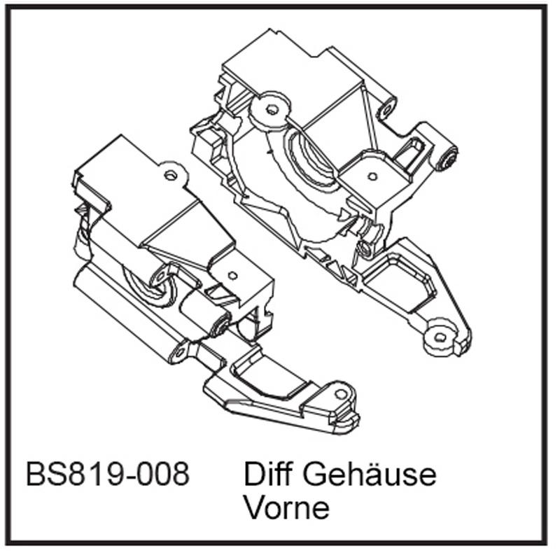 Diff Gehäuse Vo - BEAST BX / TX