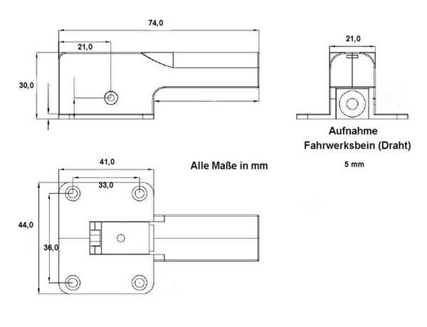 D-Power Elektrisches Einziehfahrwerk L - mit Welle - Derkum Modellbau