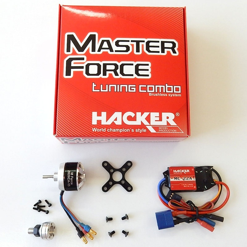 Hacker Brushless Set Master Force 2826CA-15 KV 1200&M22A