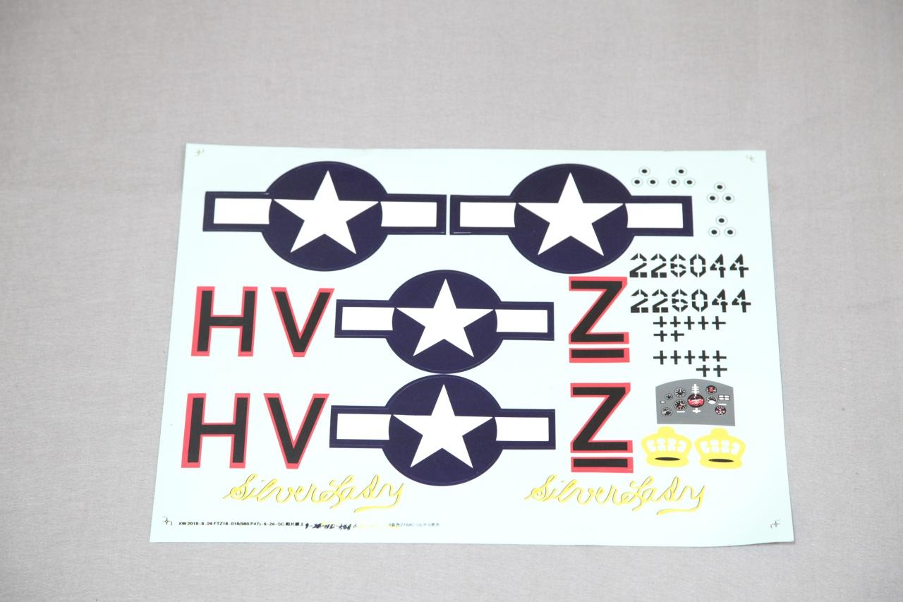 Arrows P-47 Thunderbolt - Dekorbogen
