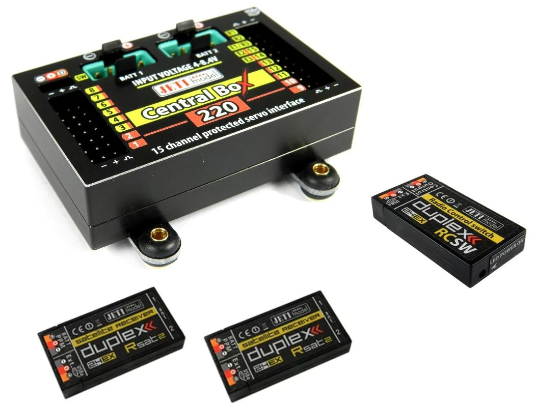 JETI Central Box CB220 + 2x Rsat2 + RC Switch