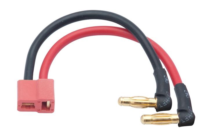 LRP LiPo Hardcase Adapterstecker - 4mm Buchse 90°