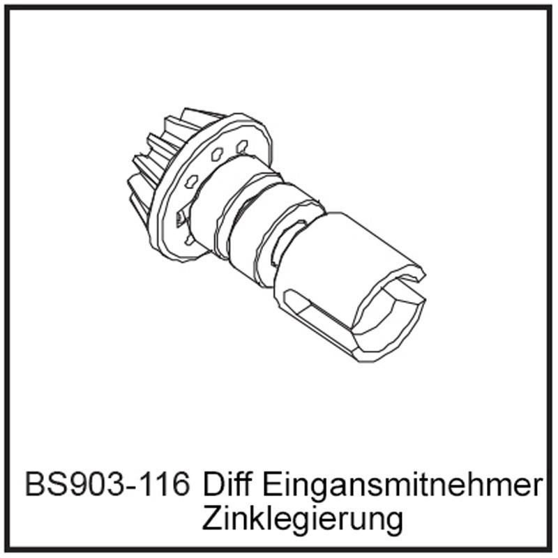 Diff Eingansmitnehmer - BEAST BX / TX