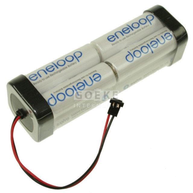 eneloop AA-Doppelwürfel mit 8 Zellen 9,6 Volt 1900 mAh
