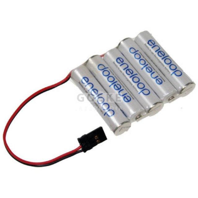 eneloop AAA Micro Reihe mit 5 Zellen 6,0 Volt 750 mAh