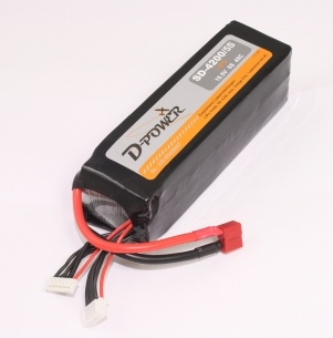 D-Power SD-4200 5S Lipo (18,5V) 45C - mit T-Stecker