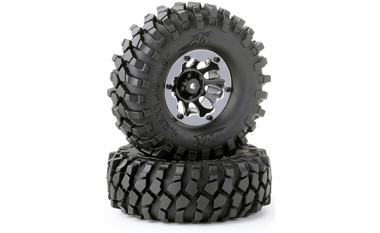 Carson 1:10 Räderset Crawler schwarz 108mm (2)