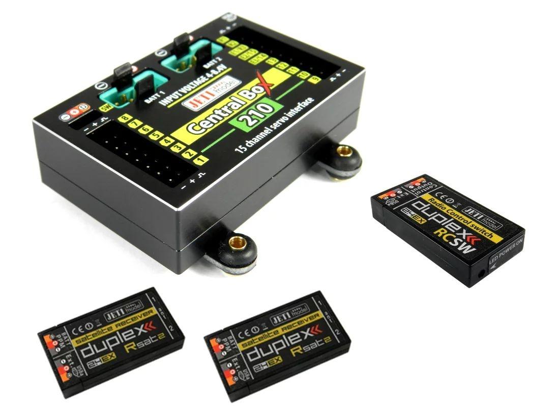 JETI Central Box CB210 + 2x Rsat2 + RC Switch