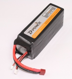 D-Power SD-7000 4S Lipo (14,8V) 45C - mit T-Stecker