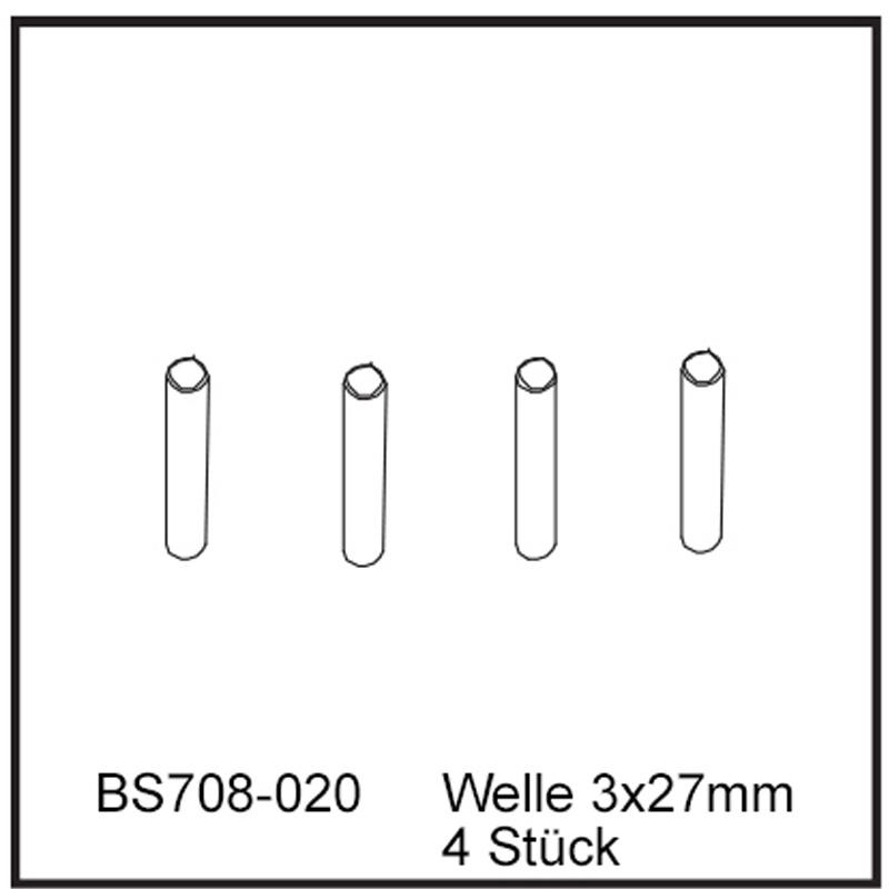 Welle 3x27mm (4 Stück) - BEAST BX / TX