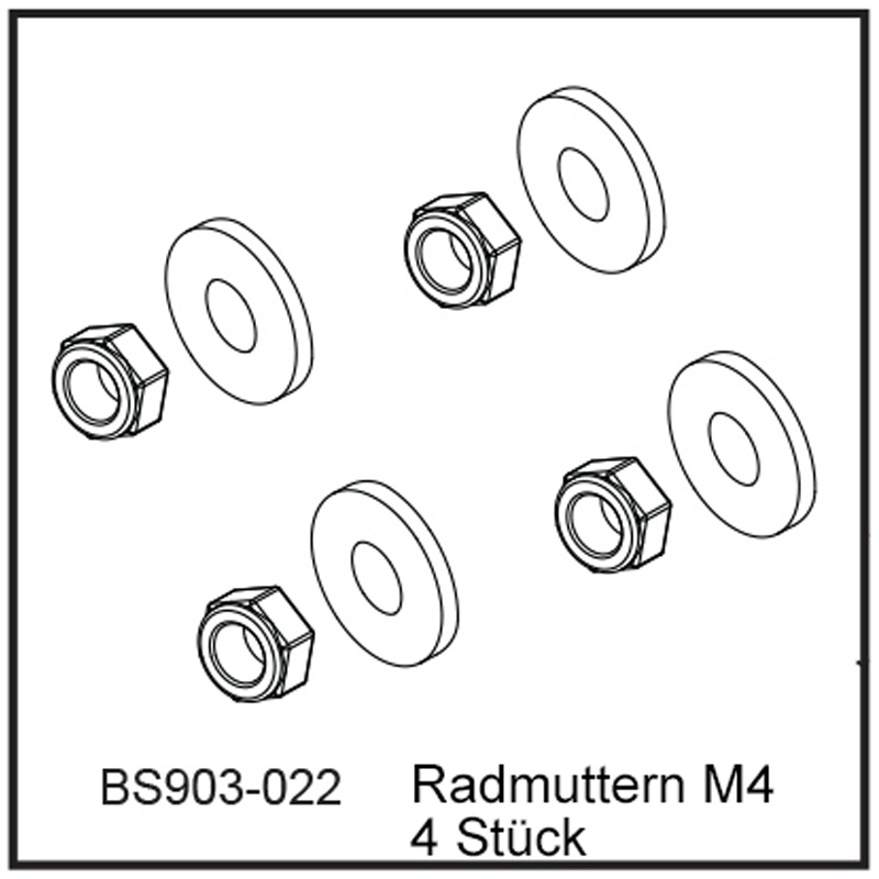 Radmuttern M4 (4 Stück) - BEAST BX / TX