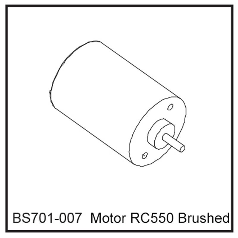 Motor RC550 Brushed - BEAST BX / TX