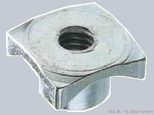 Zackenmutter Stahl M 2 (10-er Packung)