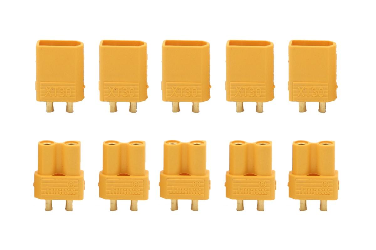 XT 30 Goldkontakte gelb - 5 Paar