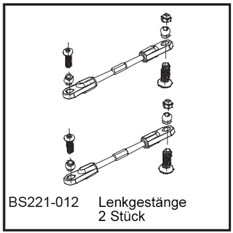 Lenkgestänge (2 Stück) - BEAST BX / TX