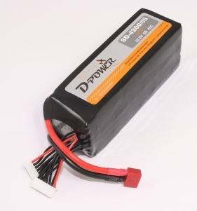 D-Power SD-4200 6S Lipo (22,2V) 45C - mit T-Stecker
