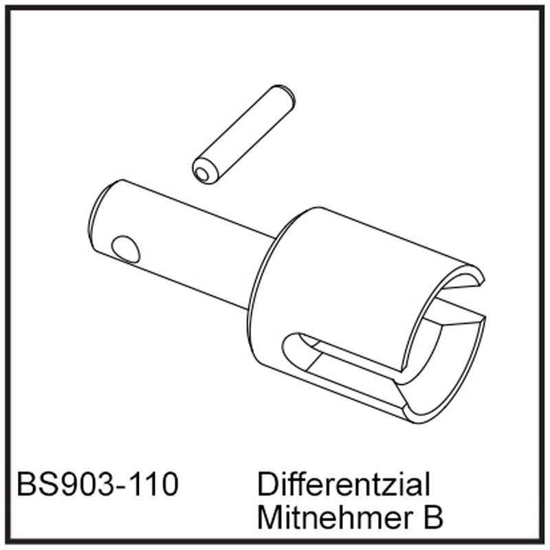 Differentzial Mitnehmer B - BEAST BX / TX