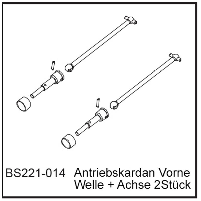 Antriebskardan Vo (2 Stück) - BEAST BX / TX