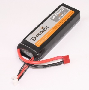 D-Power SD-4200 3S Lipo (11,1V) 45C - mit T-Stecker
