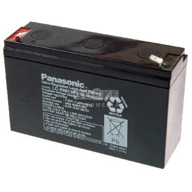 Panasonic Bleibatterie 6 Volt 12000 mAh