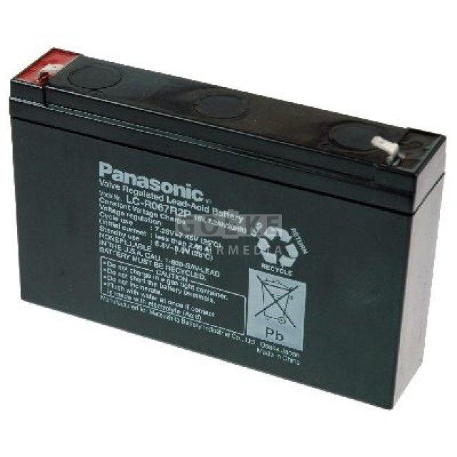 Panasonic Bleibatterie 6V Volt 7200 mAh