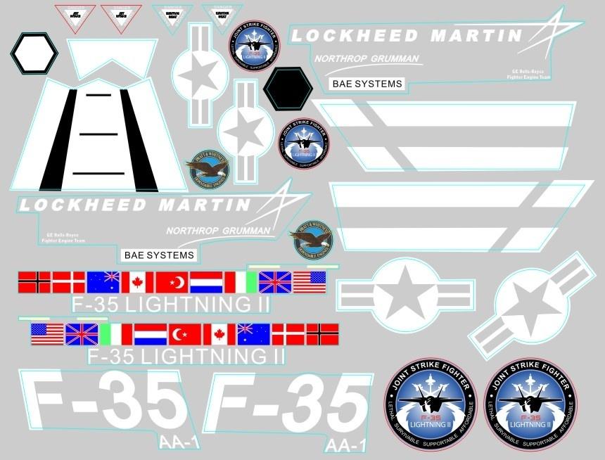 FMS F-35 V2 - Dekorbogen