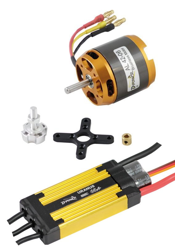 D-Power Brushless Set AL 42-06 & 65A URANUS Regler