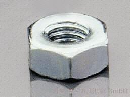 Sechskantmuttern Stahl M 2,5 (10er-Packung)