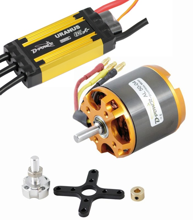 D-Power Brushless Set AL 50-04 & 85A URANUS Regler