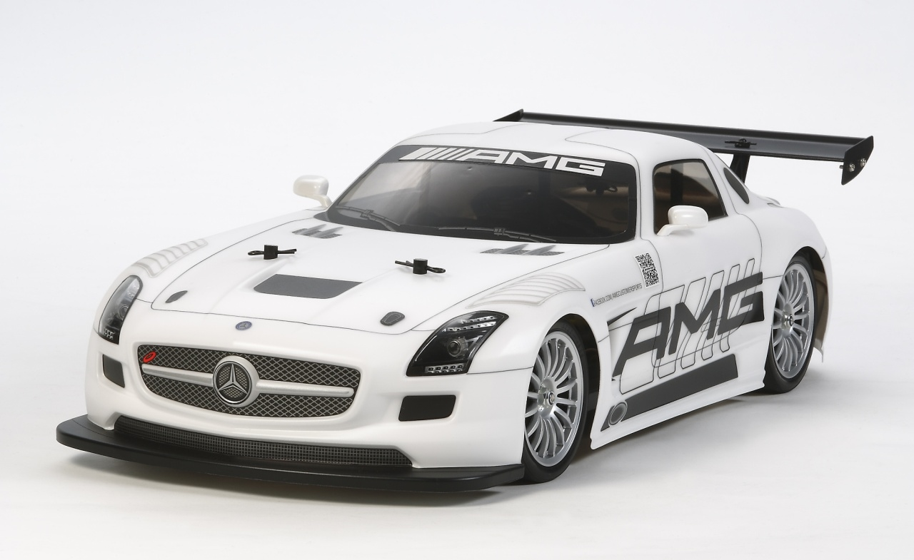 Tamiya 1:10 RC Mer.Benz SLS GT3 AMG TT-02