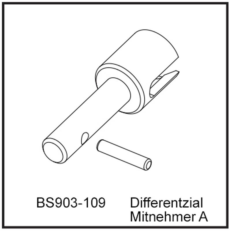 Differentzial Mitnehmer A - BEAST BX / TX