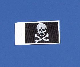 Krick Flagge Totenkopf 20x30 mm 2 Stück