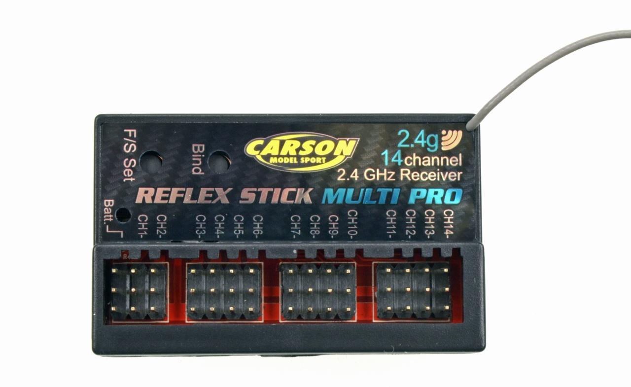 Carson Empfänger REFLEX Stick Multi Pro 14 Kanal 2,4 GHz