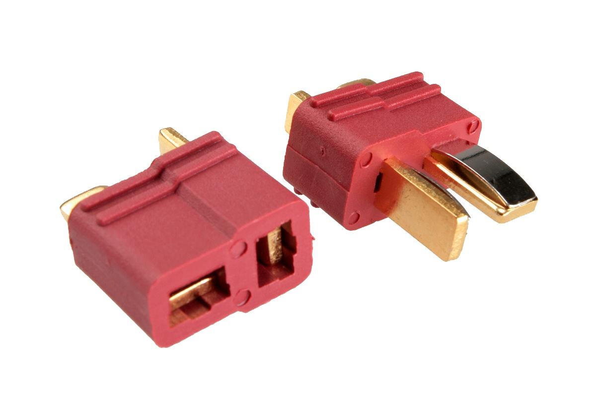 T-Stecker Hochstromkontakte rot - 5 Paar