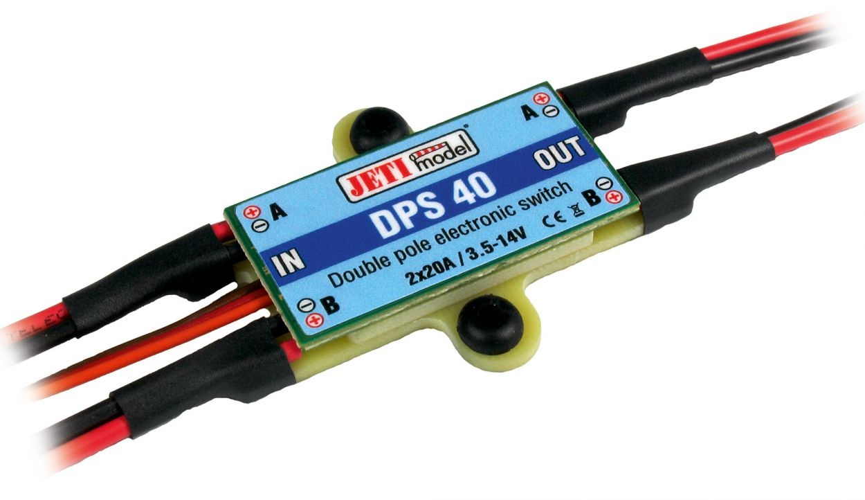 Jeti Universal Switch 2 x 20A - Schalter - Derkum Modellbau