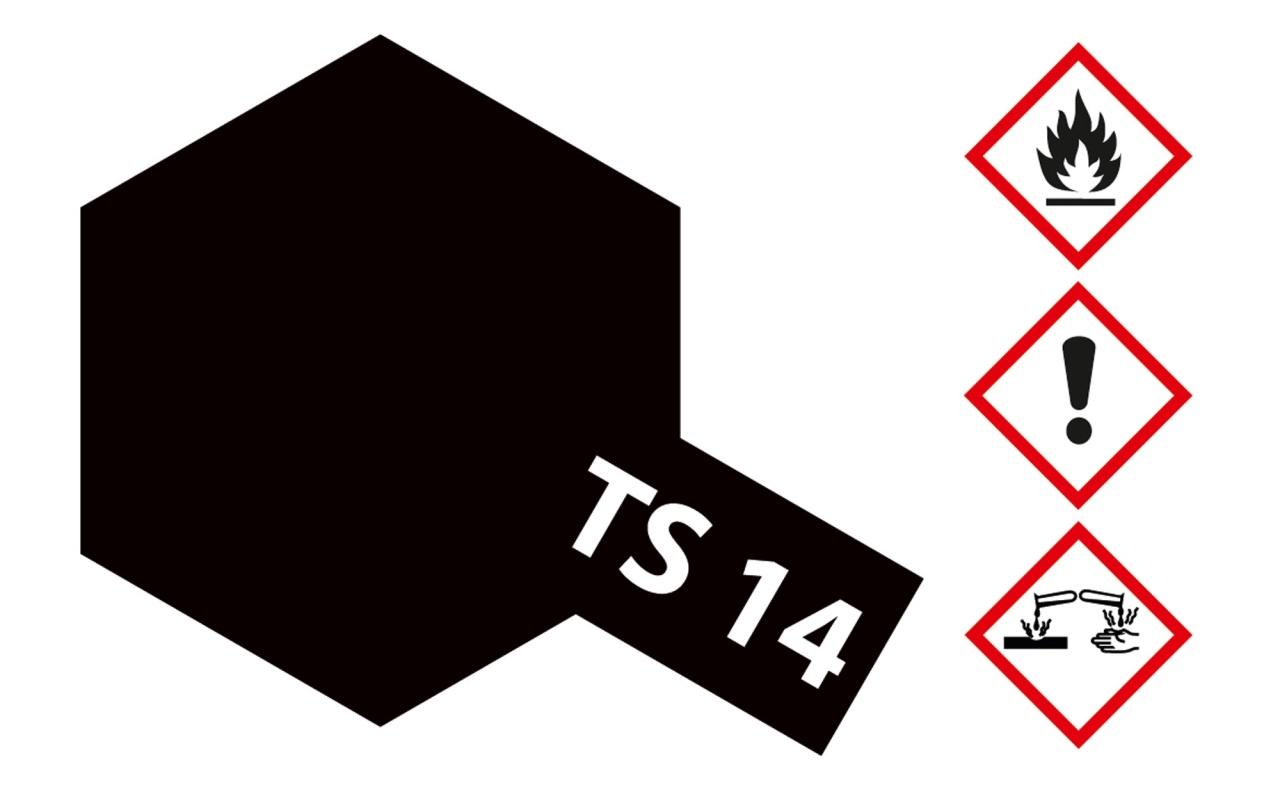 Tamiya TS-14 Schwarz glänzend Acryl 100ml