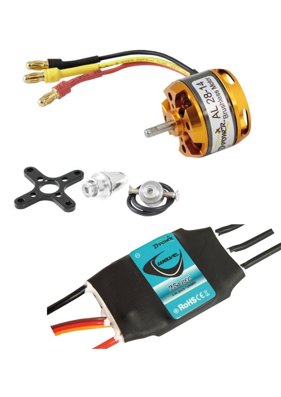 D-Power Brushless SET AL28-14 & 25A Wave Regler