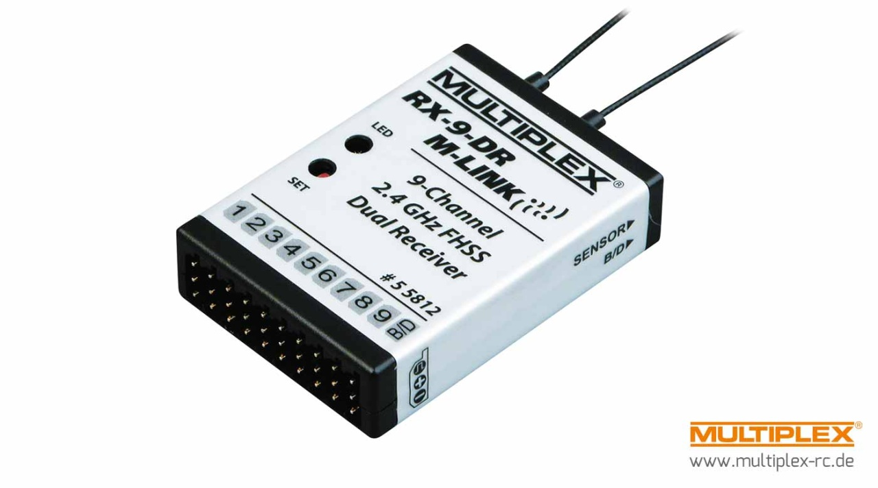 Multiplex Empfänger RX-9-DR M-LINK 2,4 GHz
