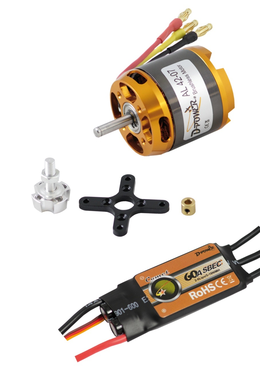 D-Power Brushless SET AL42-07 & 60A Comet Regler