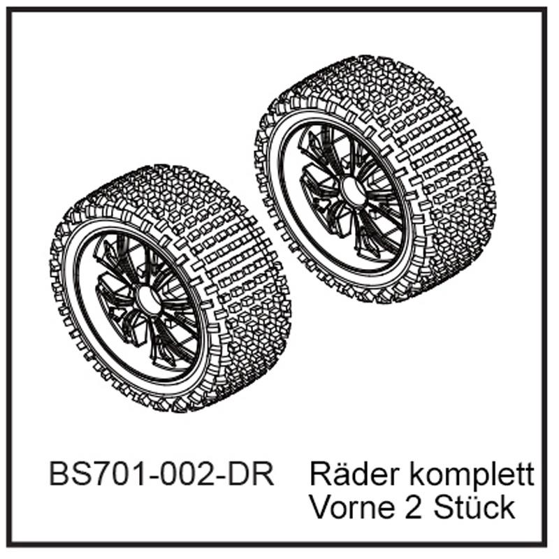 D-Power Räder komplett Vo (2 Stück) - BEAST BX BEAST BX