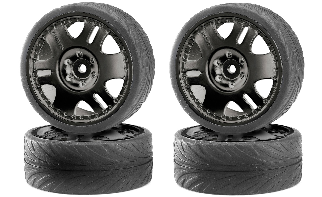Carson Big Wheel Drift Set schwarz