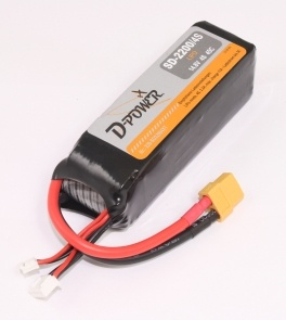 D-Power SD-2200 4S Lipo (14,8V) 45C - mit XT-60 Stecker